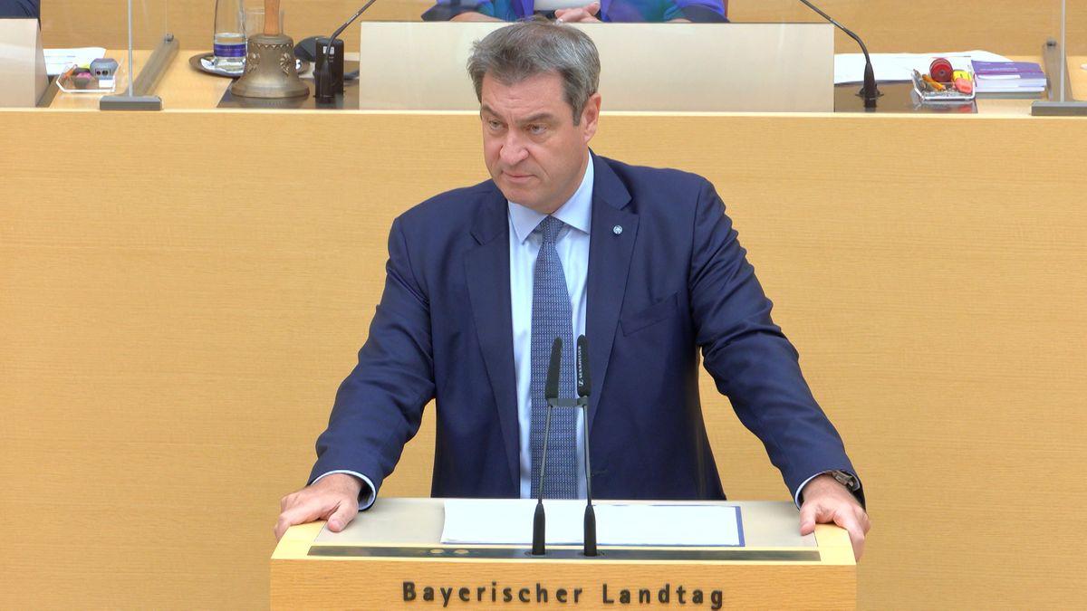 Bayerns Ministerpräsident Markus Söder (CSU) nennt am 21.07.21 Ziele in der Klimapolitik.