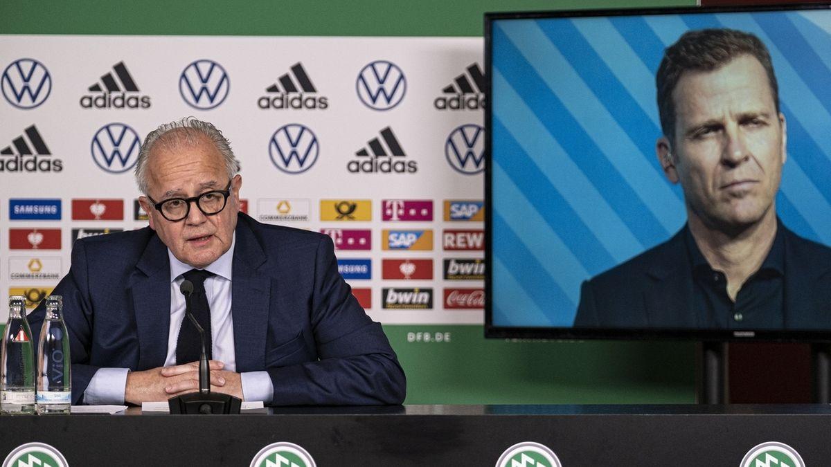 DFB-Präsident Fritz Keller, Nationalmannschafts-Direktor Oliver Bierhoff