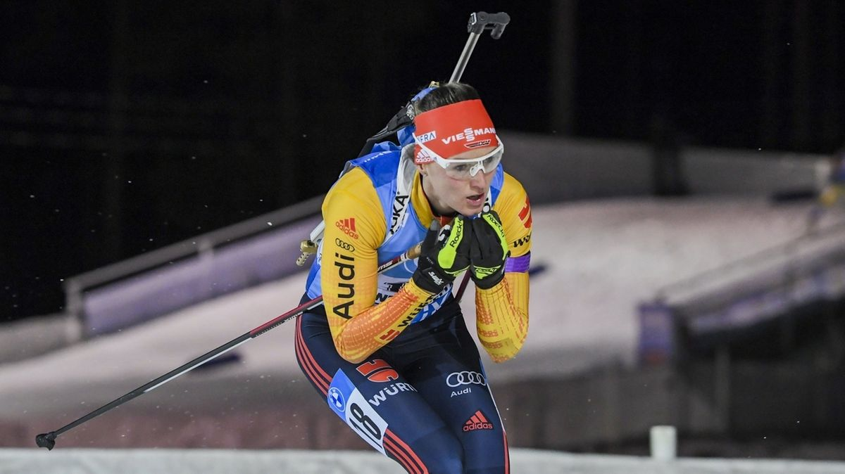 Denise Herrmann läuft in Kontiolahti