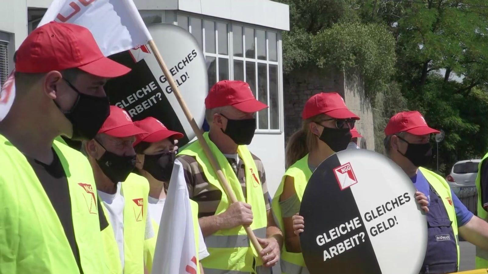 Warnstreik bei Bionade: 30 Mitarbeiter legten die Arbeit nieder
