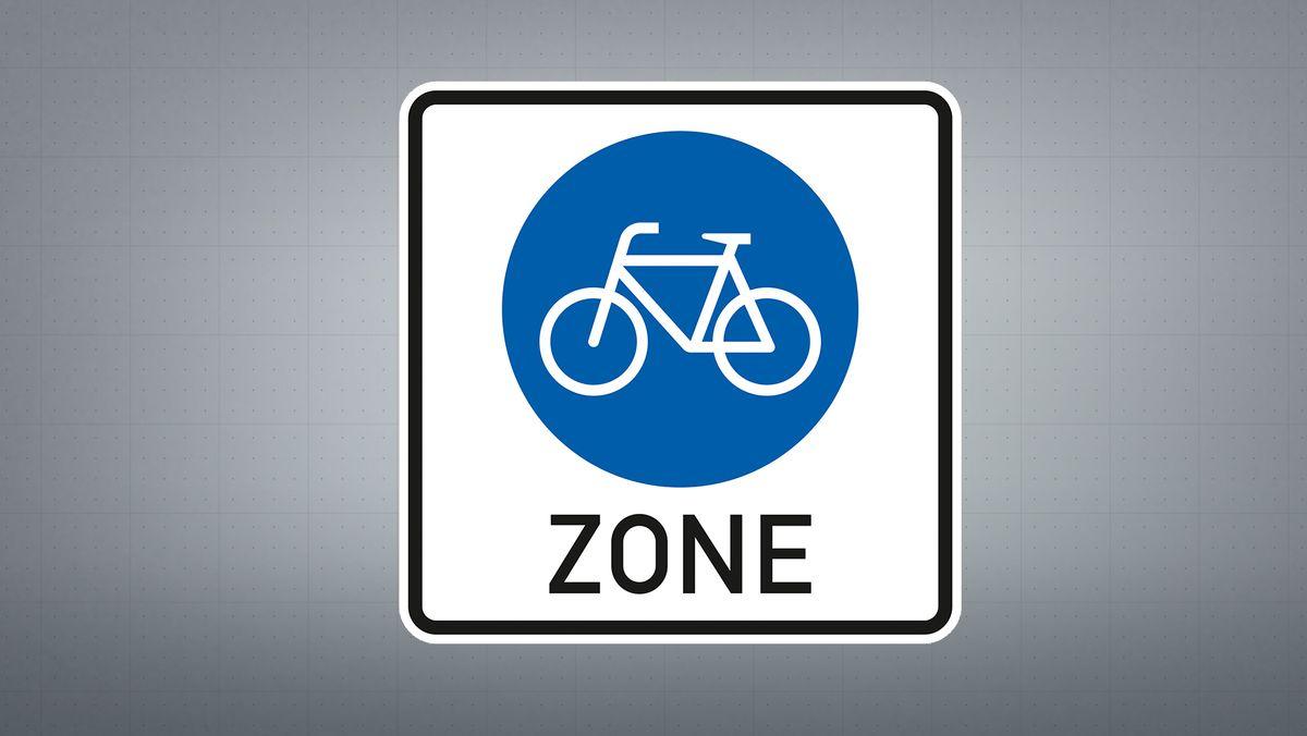 Beginn einer Fahrradzone.