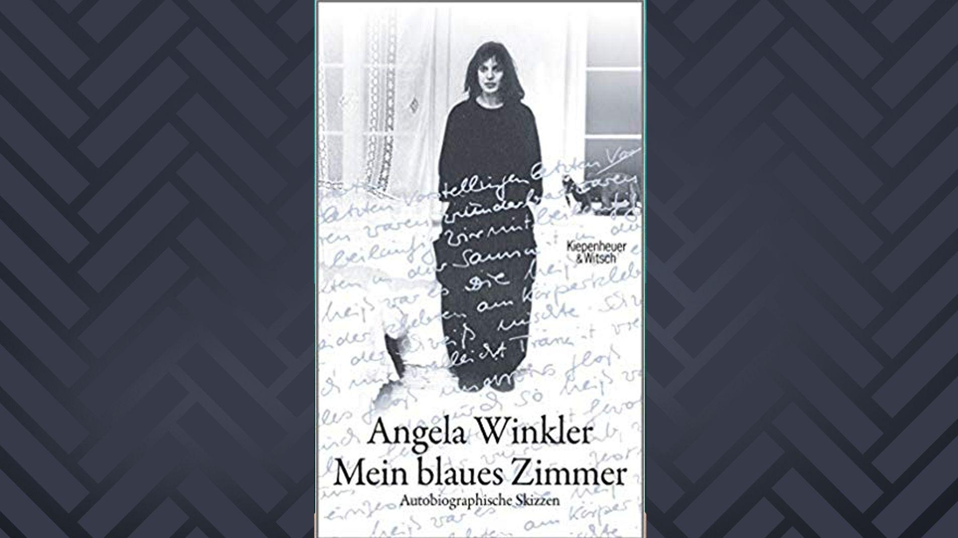 Cover des Buches von  Angela Winkler und Brigitte Landes, auf dem Winkler in jungen Jahren in einem Zimmer steht