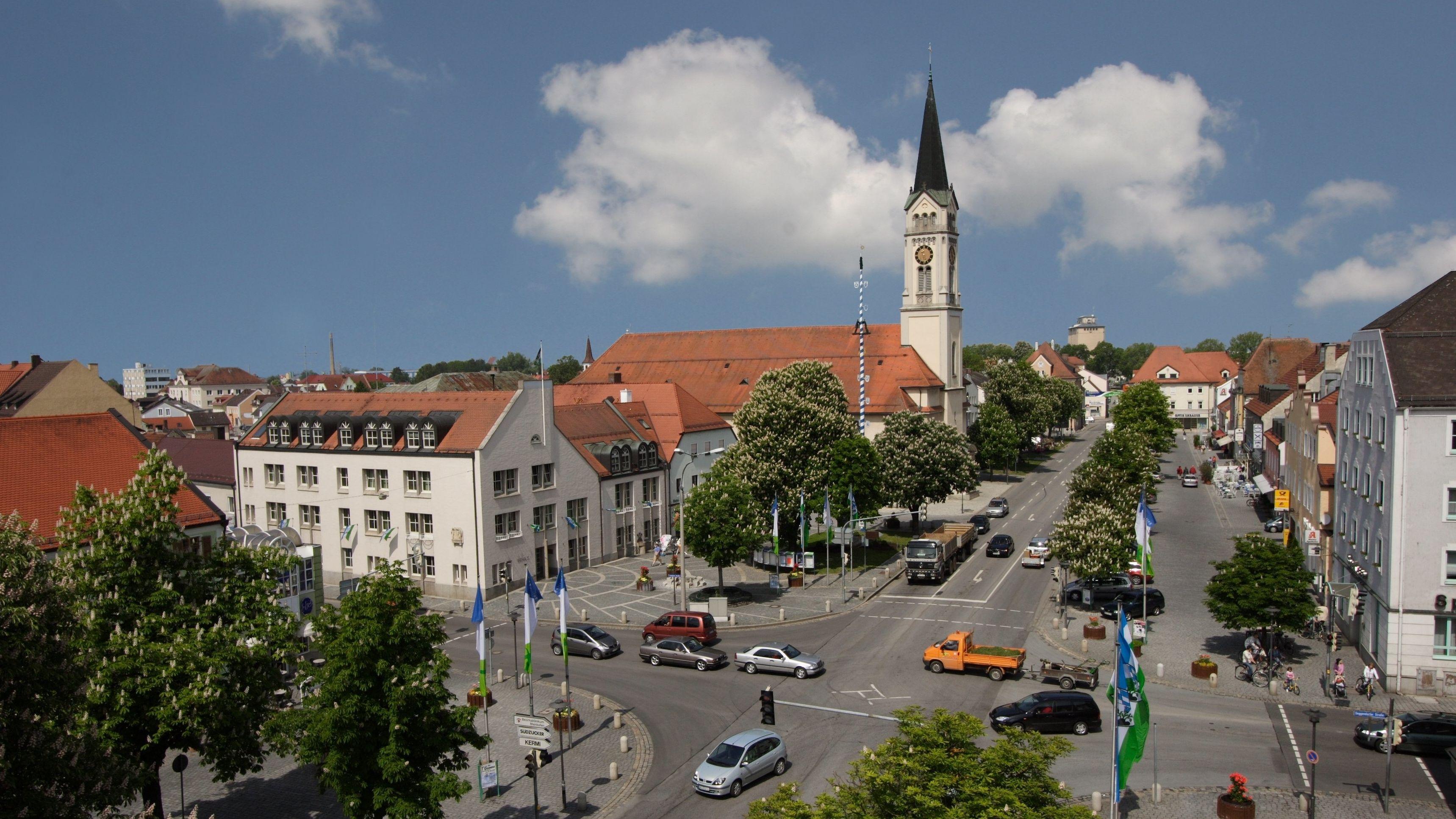 Der Stadtplatz in Plattling