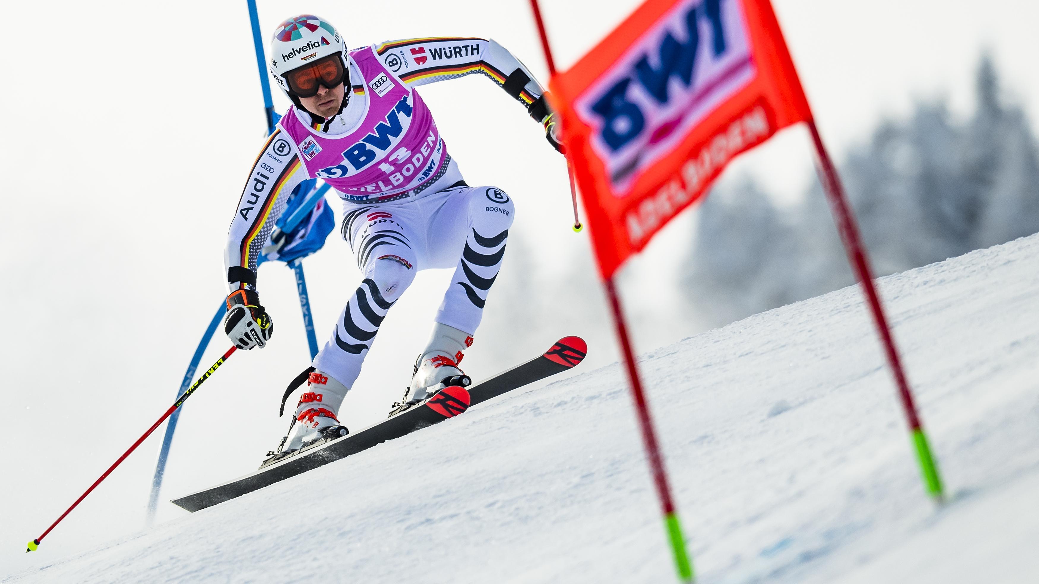 Skirennfahrer Stefan Luitz beim Riesenslalom in Alta Badia