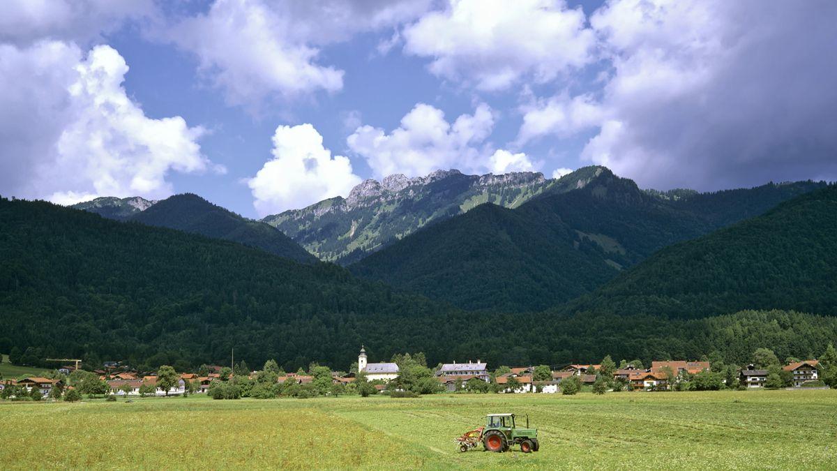 Schleching mit Kampenwand, Chiemgauer Alpen