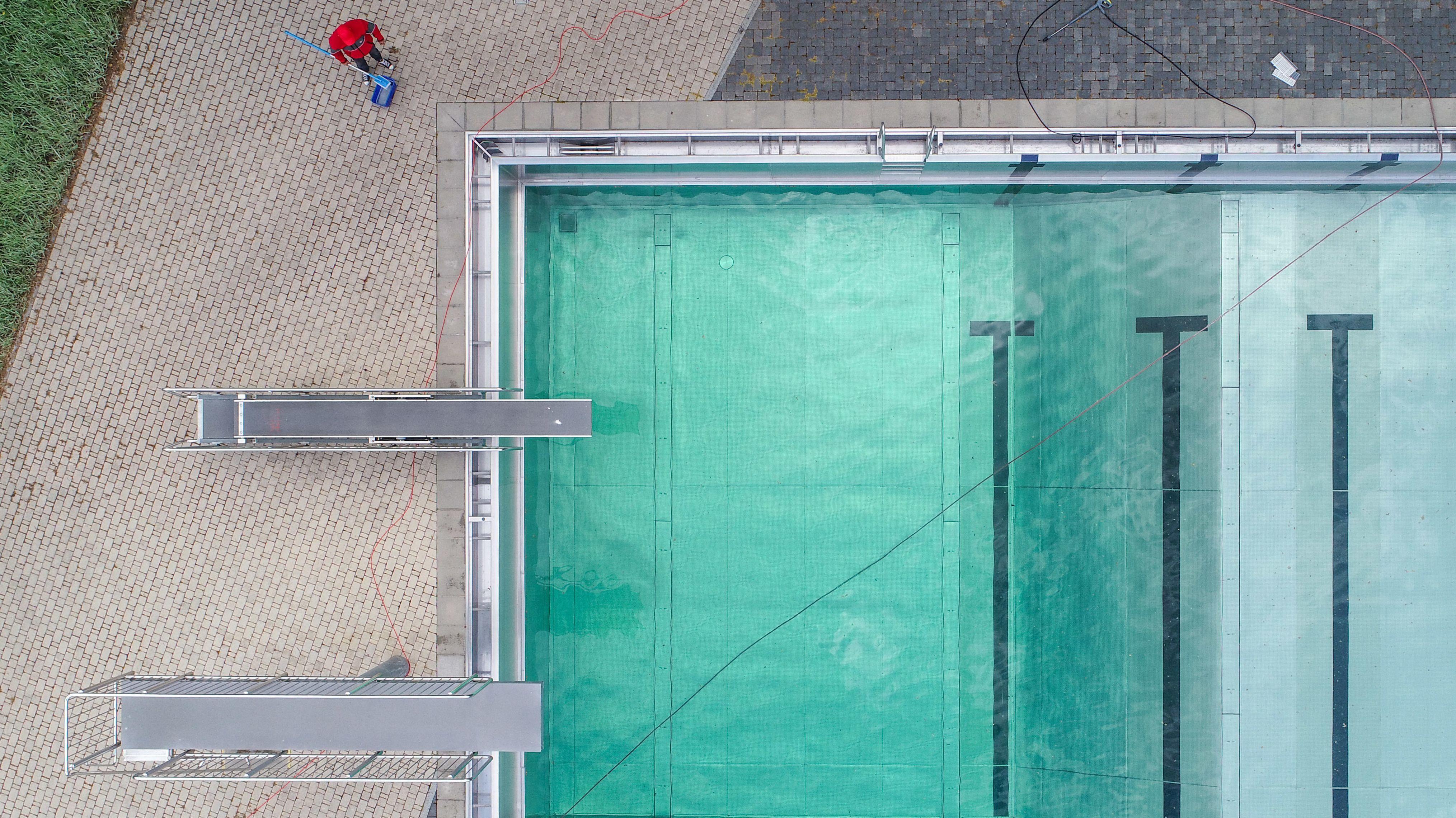 Freibad von oben
