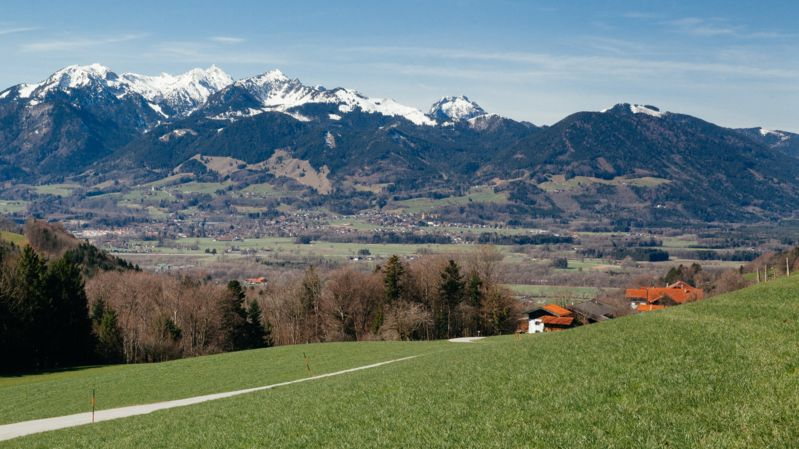 Symbolbild: Berge im Inntal Richtung Oberaudorf/Sudelfeld