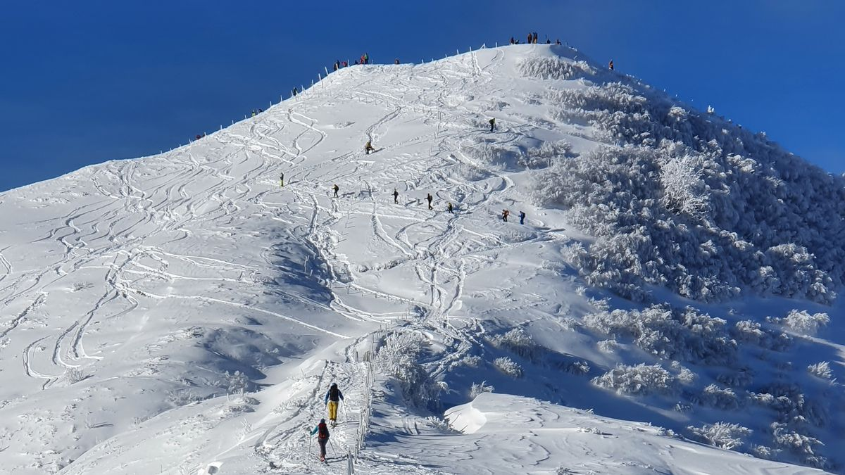 Skitourengeher am Riedberger Horn