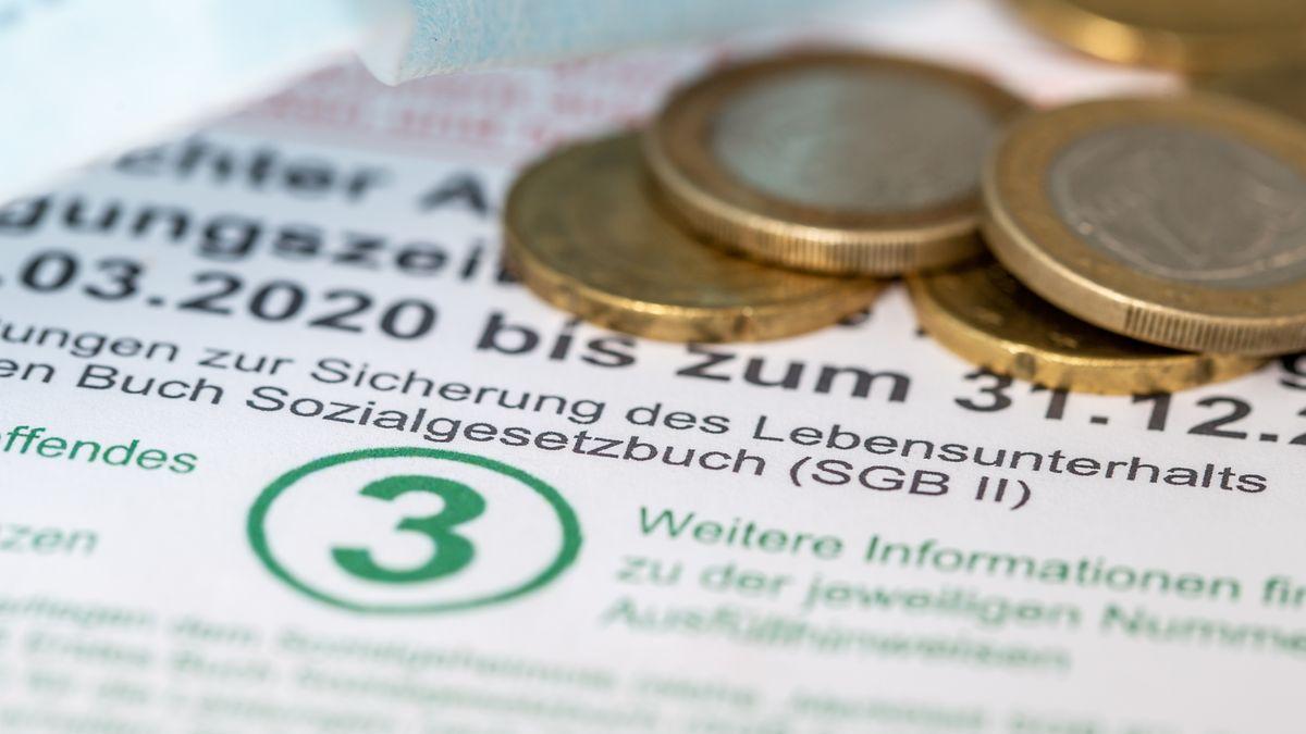 Euro-Münzen auf Antrag zur Grundsicherung