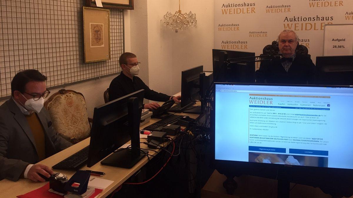 Online-Auktion im Nürnberger Auktionshaus Weidler