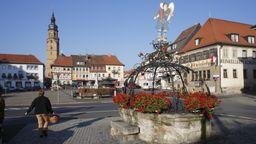 Marktplatz von Bad Königshofen (Lkr. Rhön-Grabfeld) | Bild:dpa Picture-Alliance Siepmann