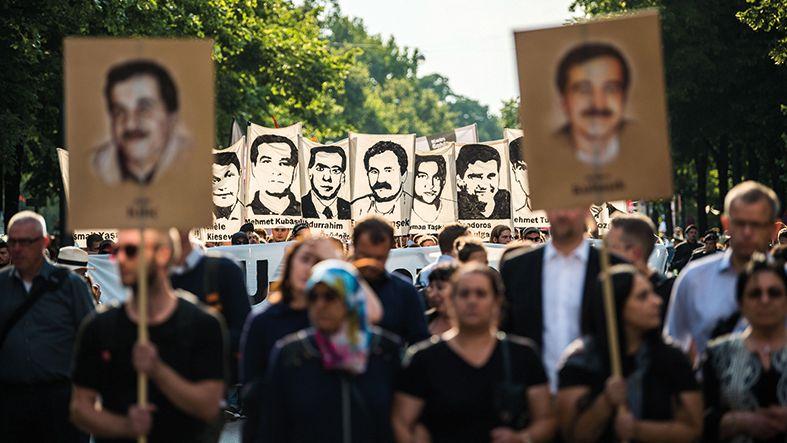 Demonstration zugunsten der NSU-Opfer