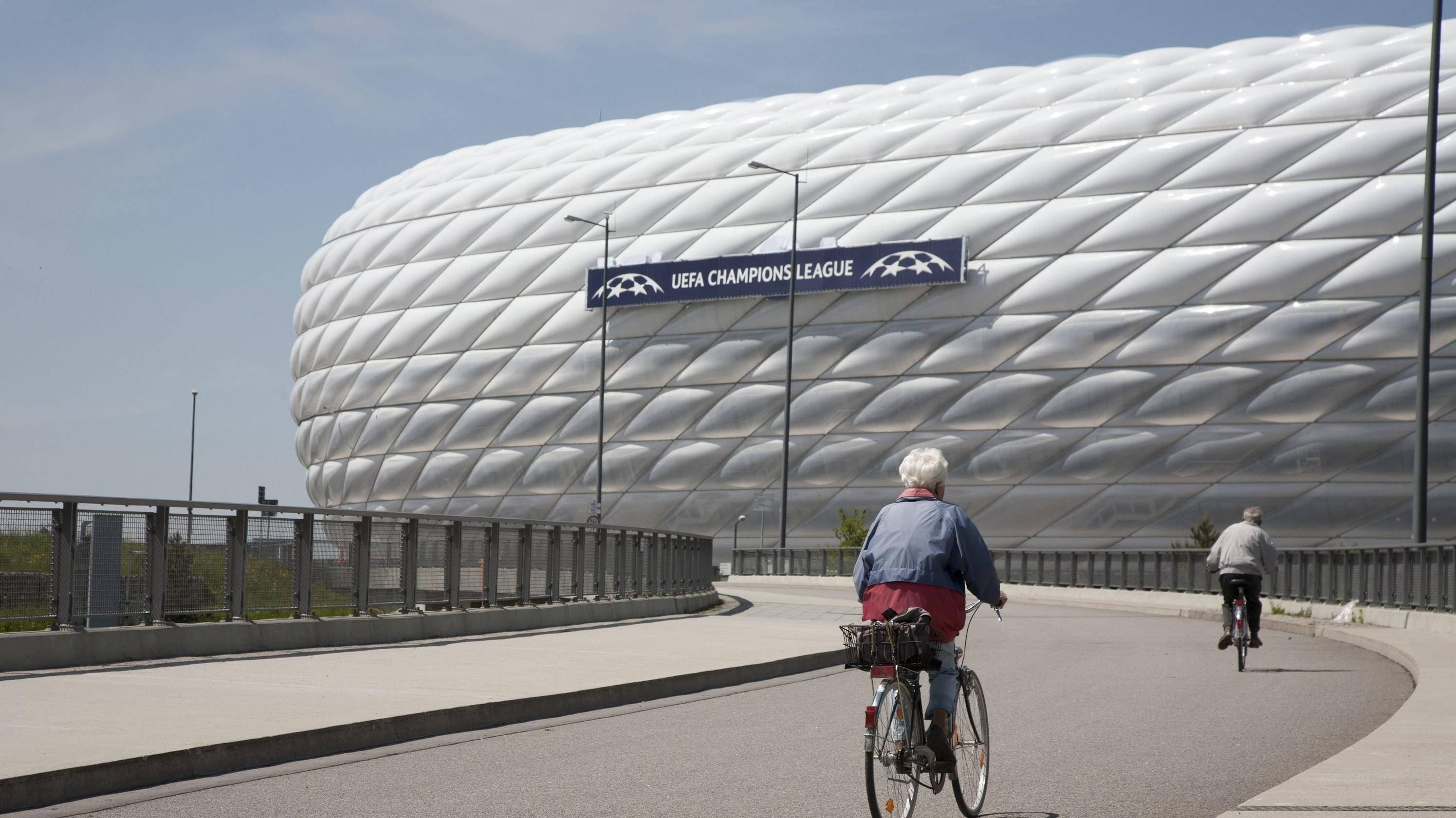 Die Münchner Arena vor dem Champions-League-Finale 2012
