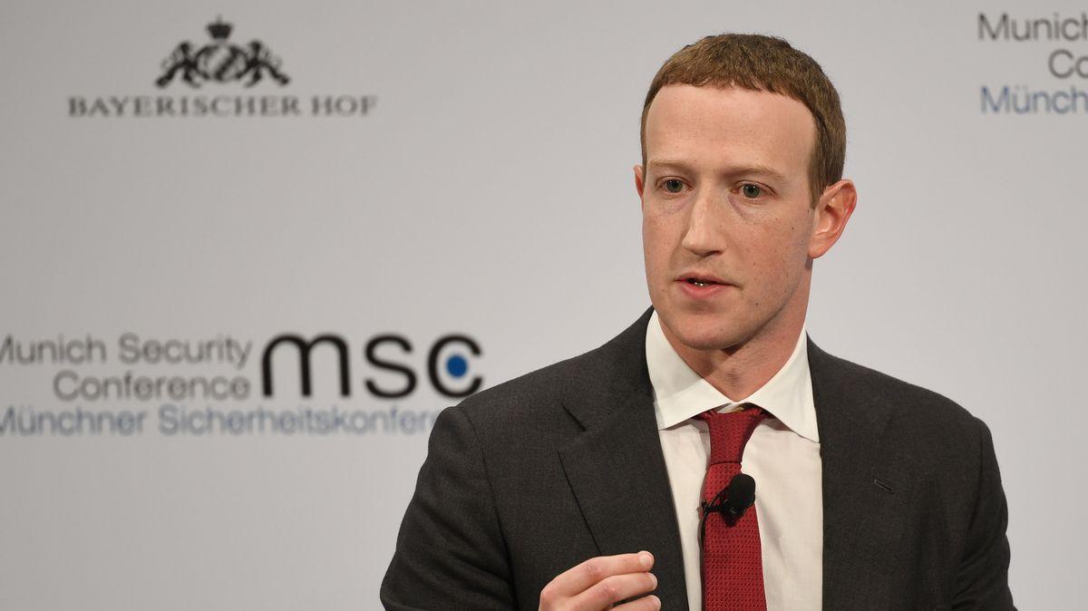 Mark Zuckerberg, Vorstandsvorsitzender von Facebook, spricht auf der 56. Münchner Sicherheitskonferenz.