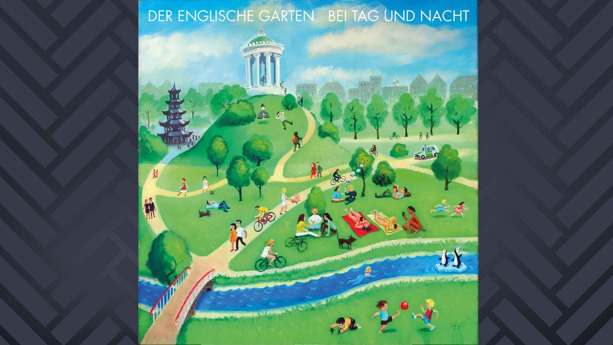 """Naive Malerei: Das Albumcover zu """"Bei Tag Und Nacht"""" zeigt den Englischen Garten mit Monopteros und Besuchern"""