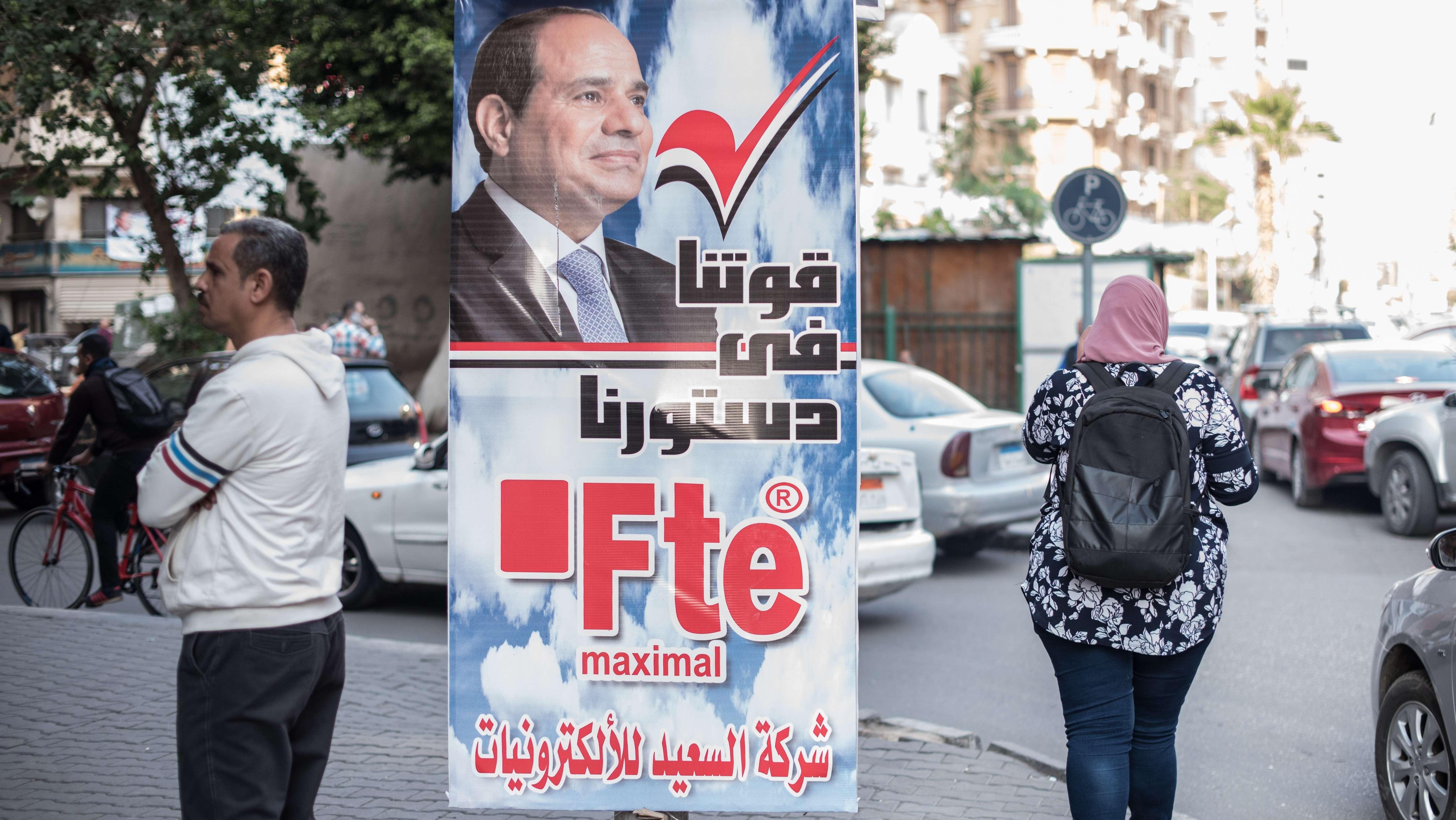 Wahlplakate für das Referendum in Ägypten