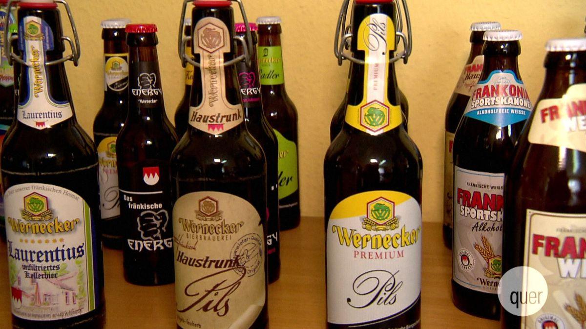 Flaschen der Wernecker Brauerei