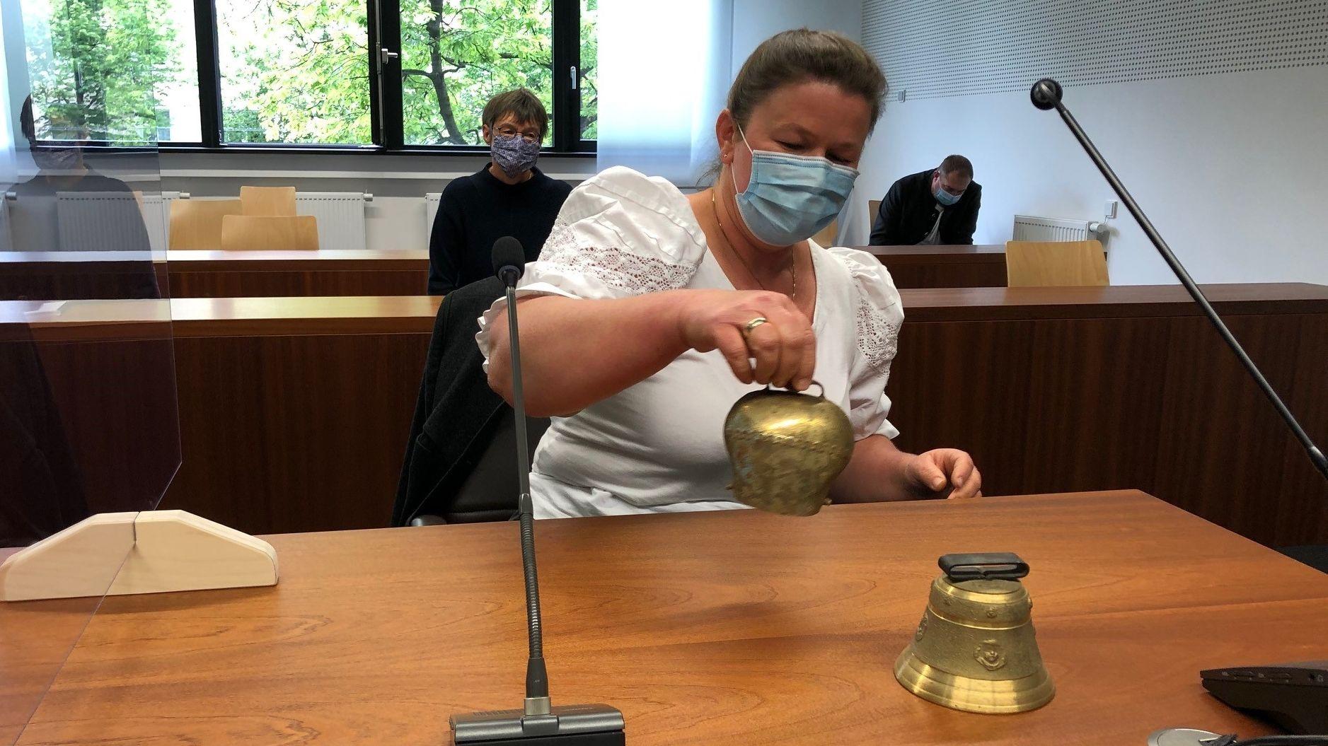 Die Landwirtin Regina Killer vor dem OLG München