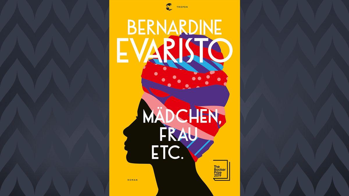 Auf dem Buchcover ist eine schwarze Frau zu sehen, auf deren Kopf sich ein Turban aus ganz verschiedenen Stoffen zusammensetzt.
