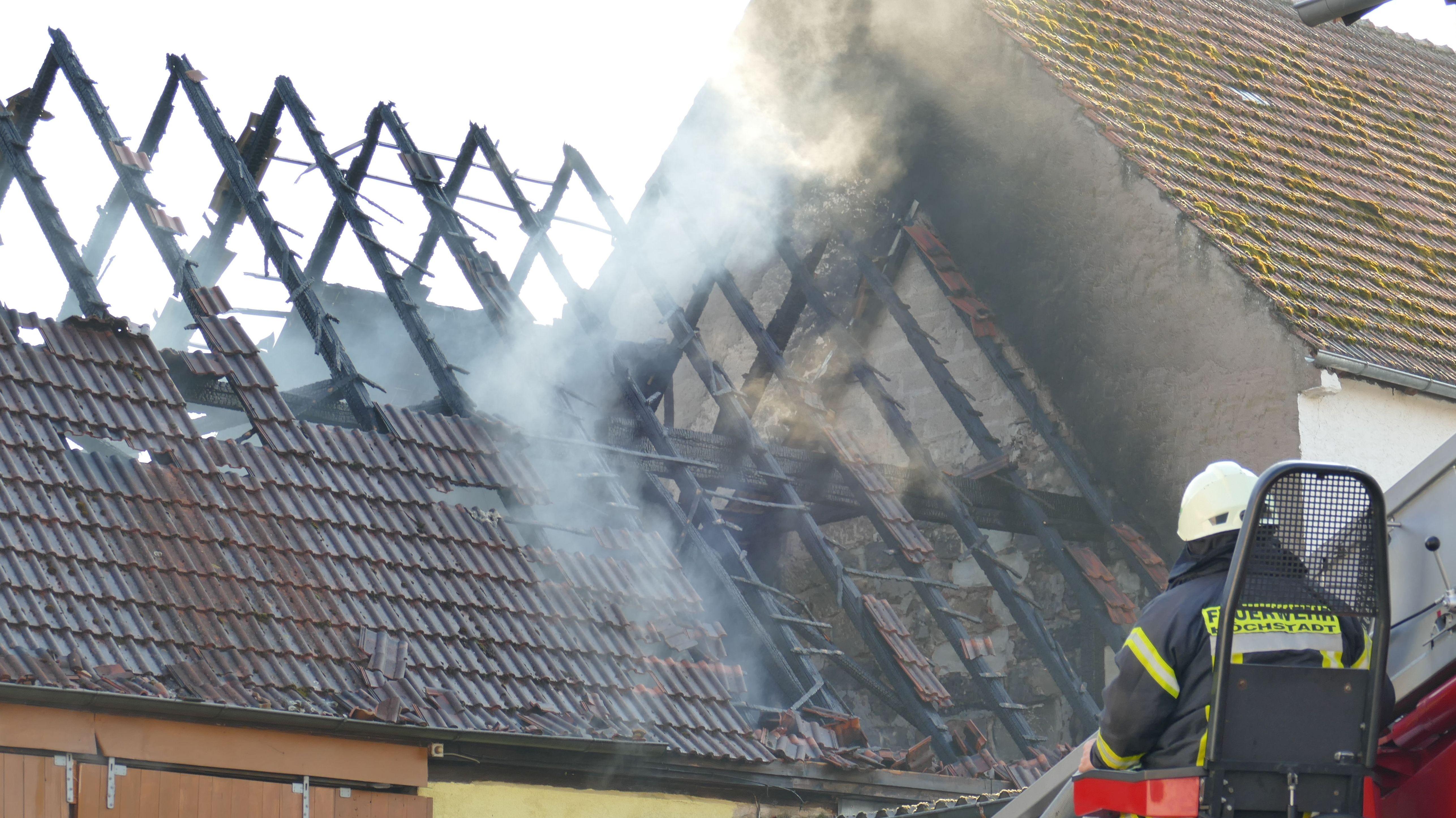 Scheunenbrand in Schirnsdorf