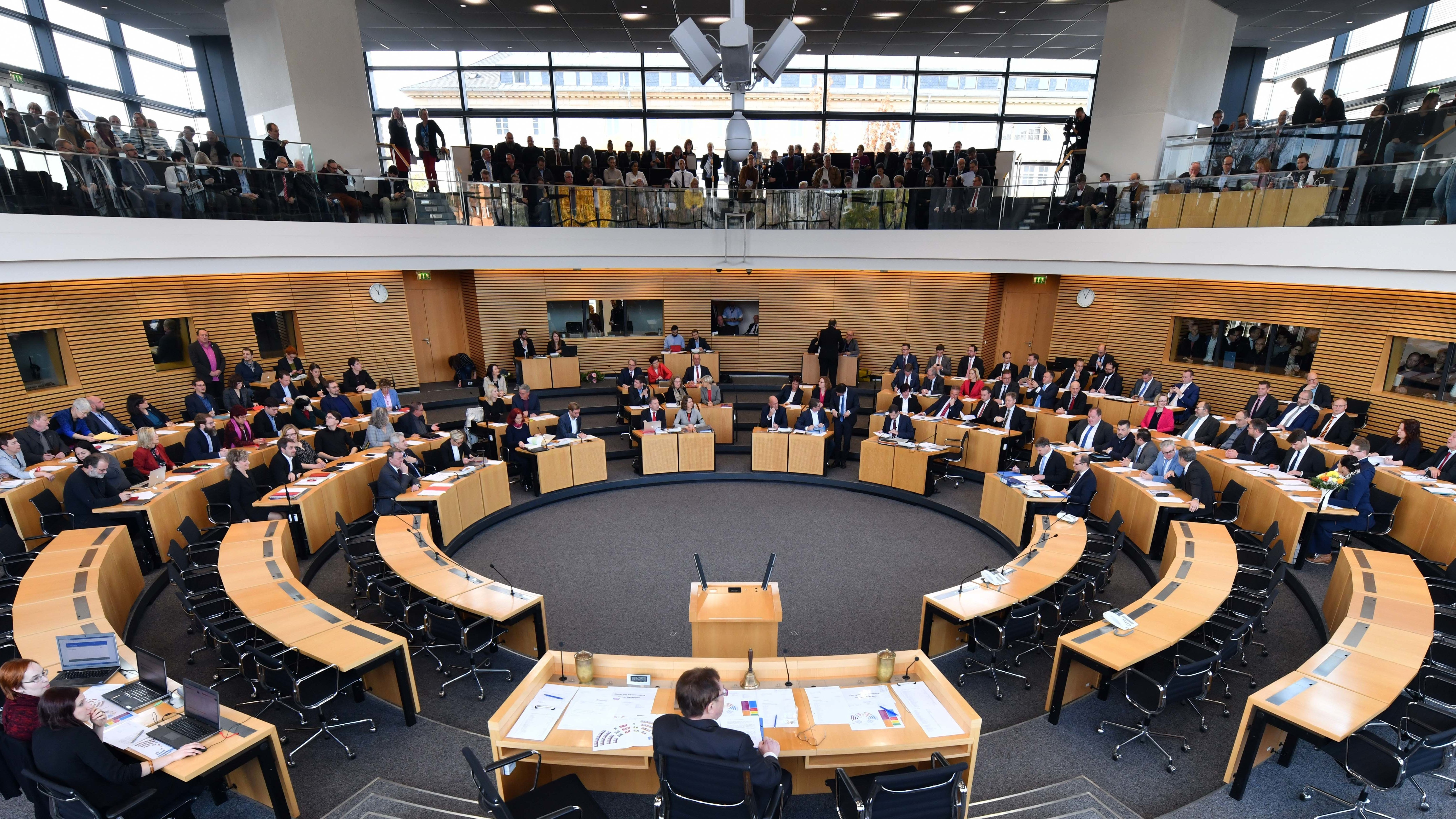 Blick in den Thüringer Landtag