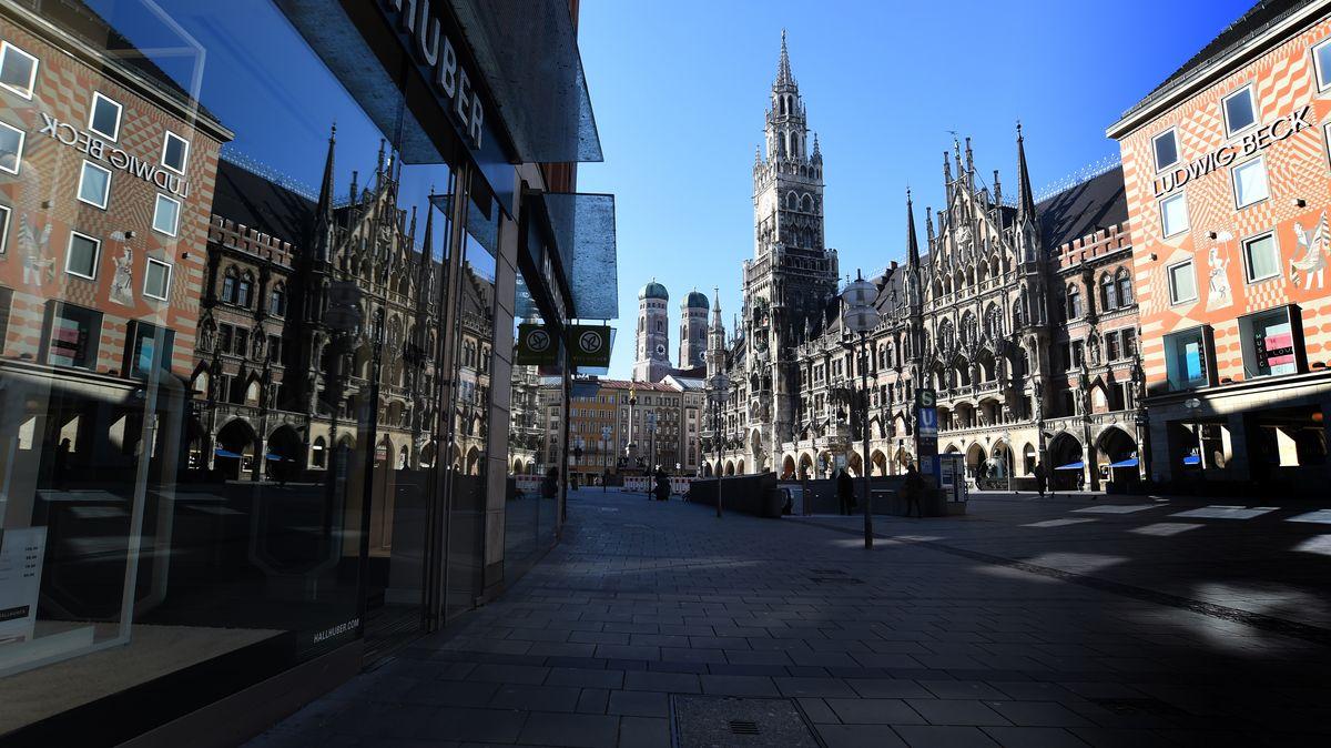 Münchner Marienplatz im Lockdown