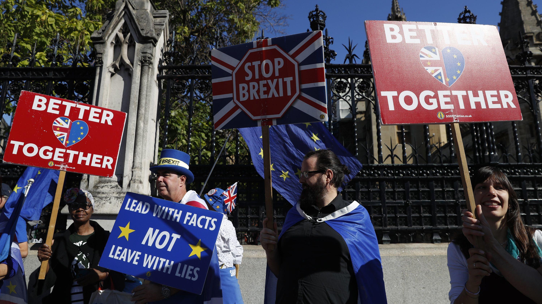 Brexit-Gegner demonstrieren in London