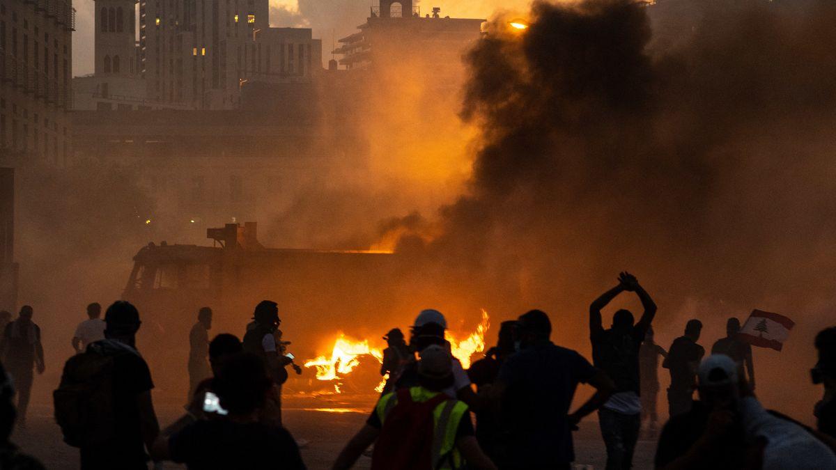 Die zweite Nacht in Folge kam es in Beirut zu gewalttätigen Protesten auf den Straßen