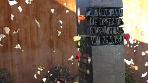 Mahnmal für die Opfer des Bombenanschlags auf das Oktoberfest vom 26.09.1980 an der Münchner Theresienwiese