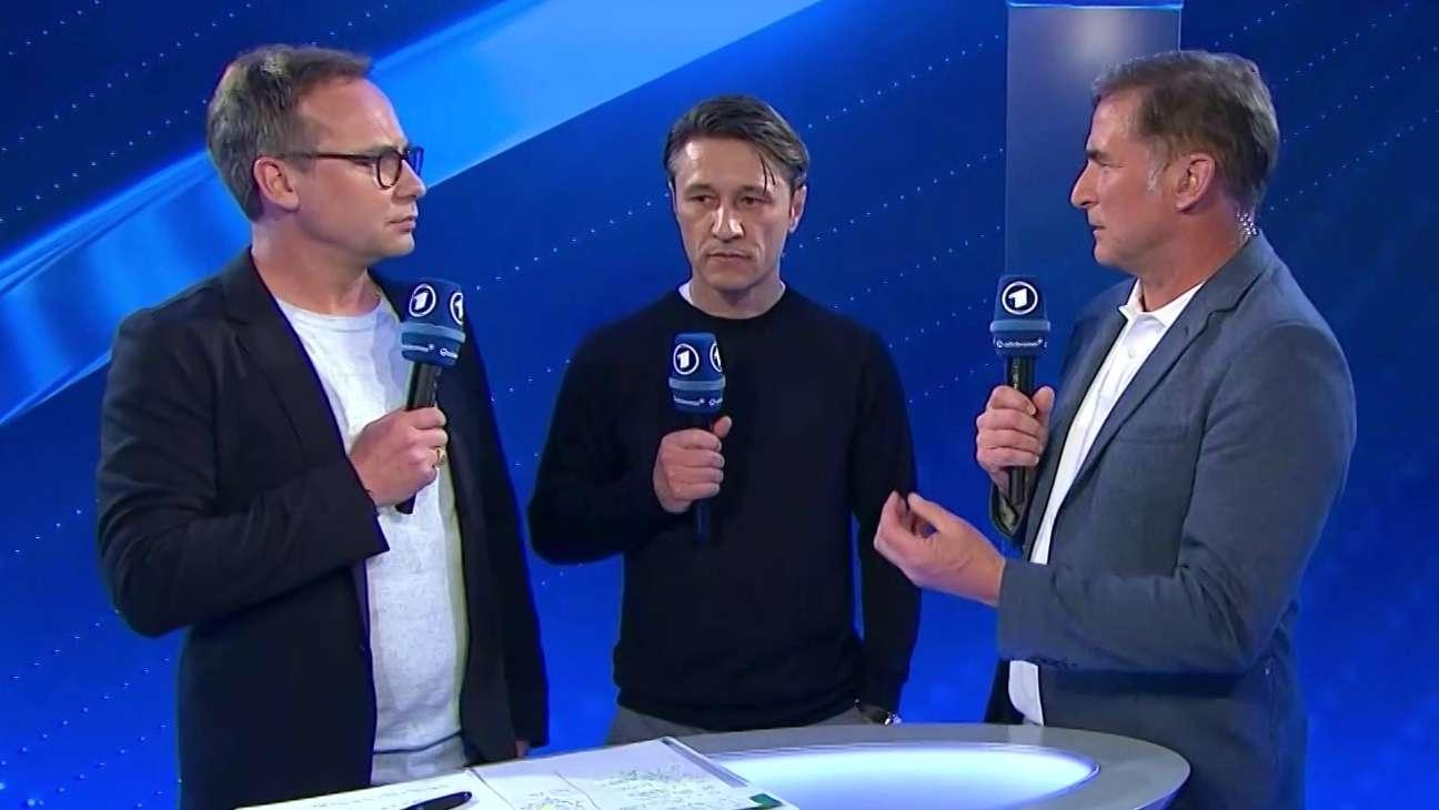 ARD-Moderator Matthias Opdenhövel, Bayern-Trainer Niko Kovac und U21-Nationaltrainer Stefan Kuntz (v.l.)