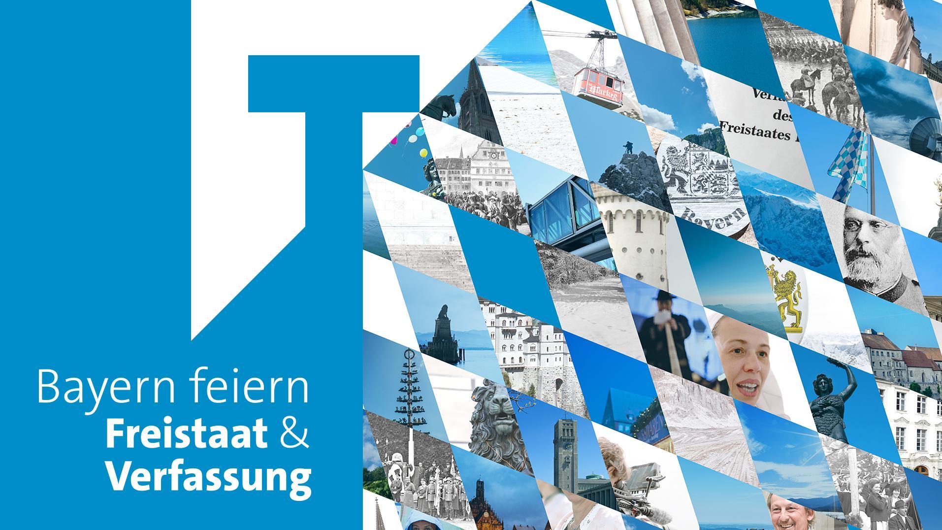 Logo Freistaat Bayern feiert Jubiläen von Freistaat und Verfassung