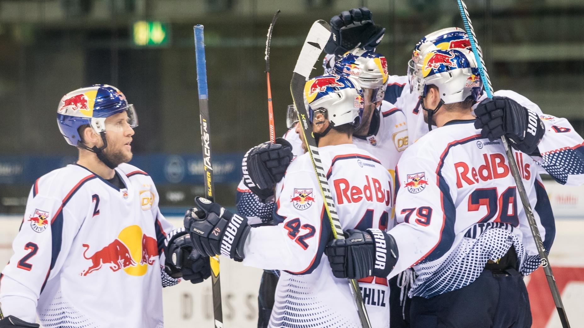 Jubel beim EHC Red Bull München