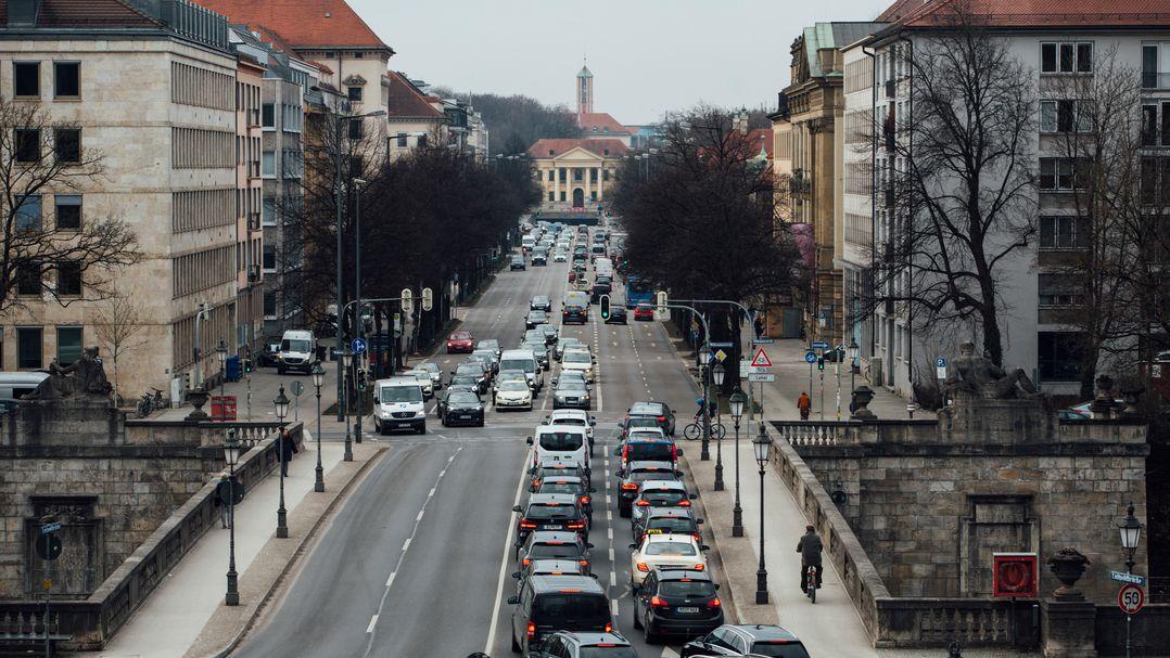 Dichter Verkehr in München