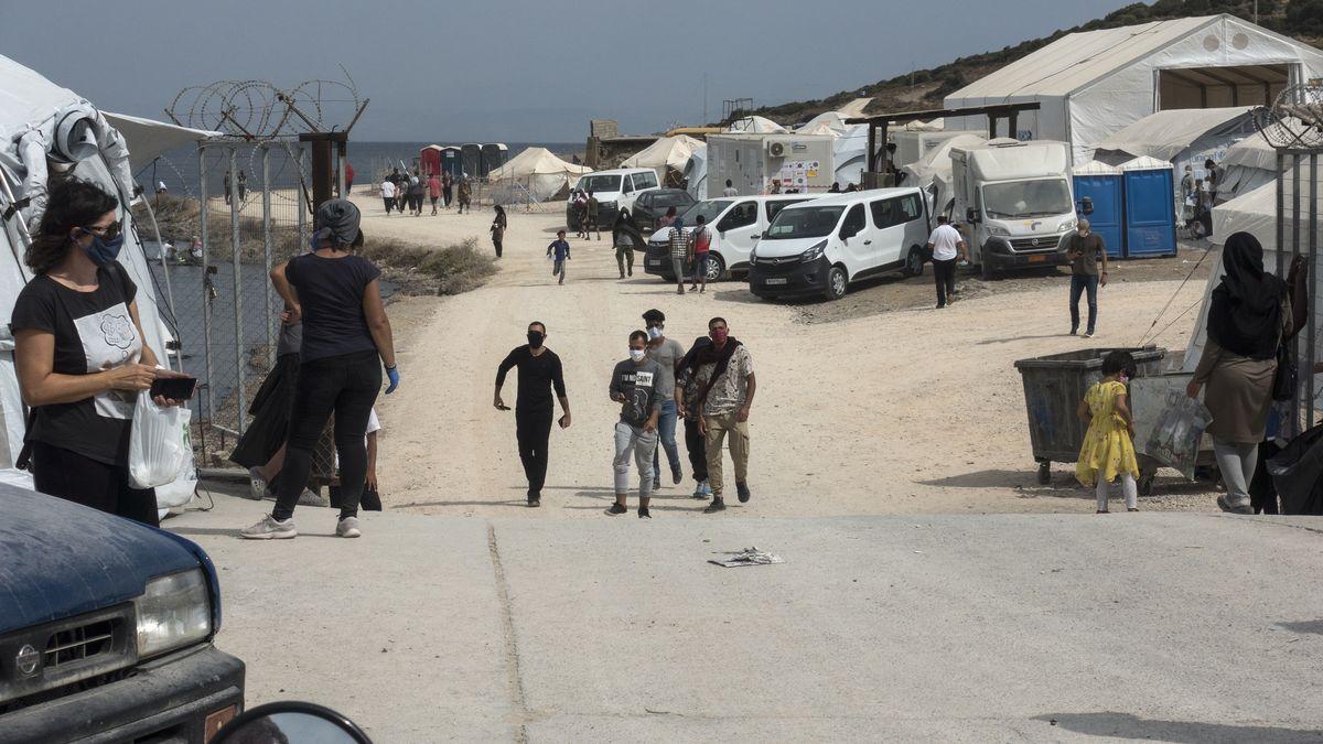 Geflüchtete im Camp von Lesbos