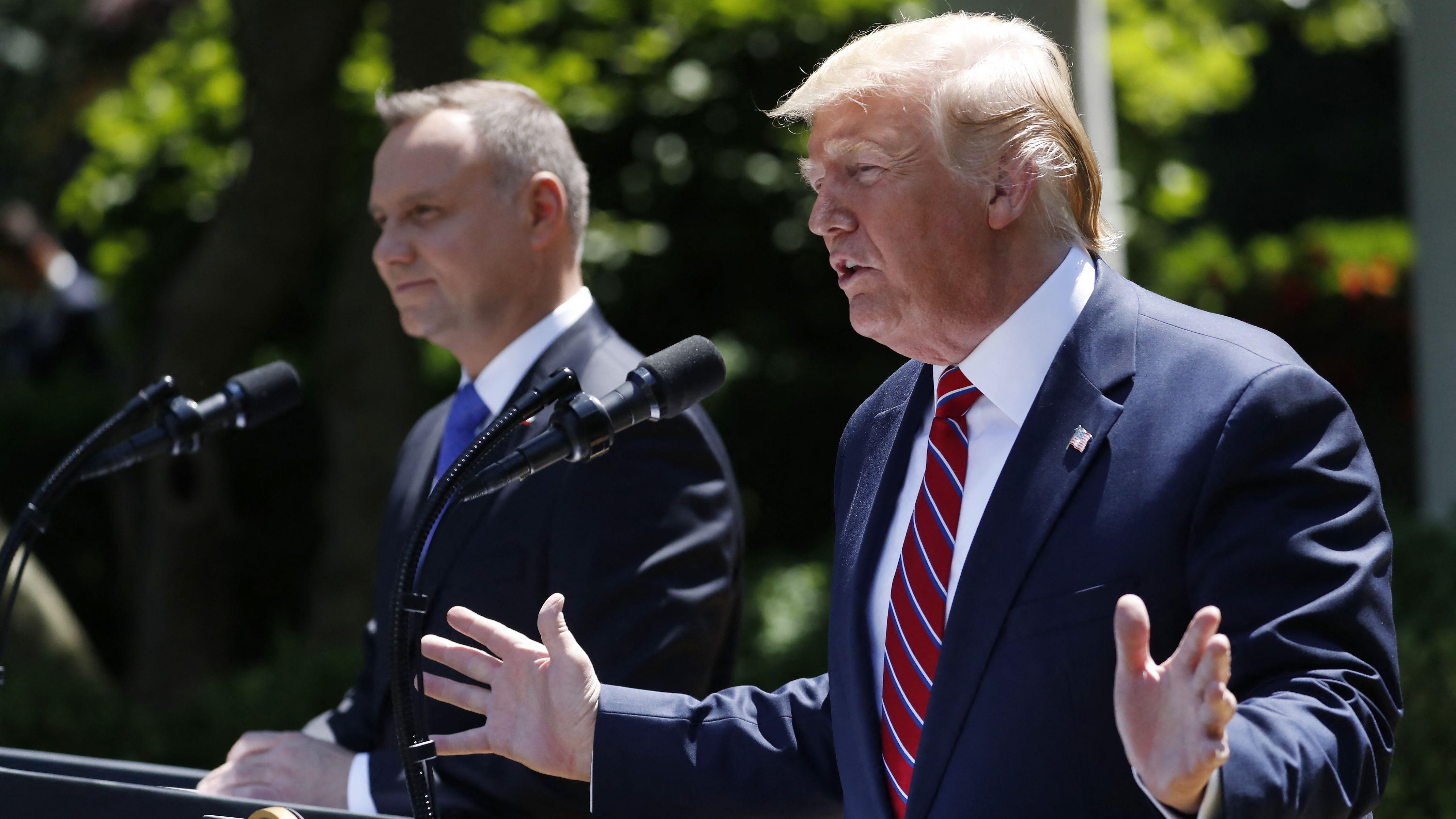 Polens Präsident Duda mit seinem US-Kollegen Trump
