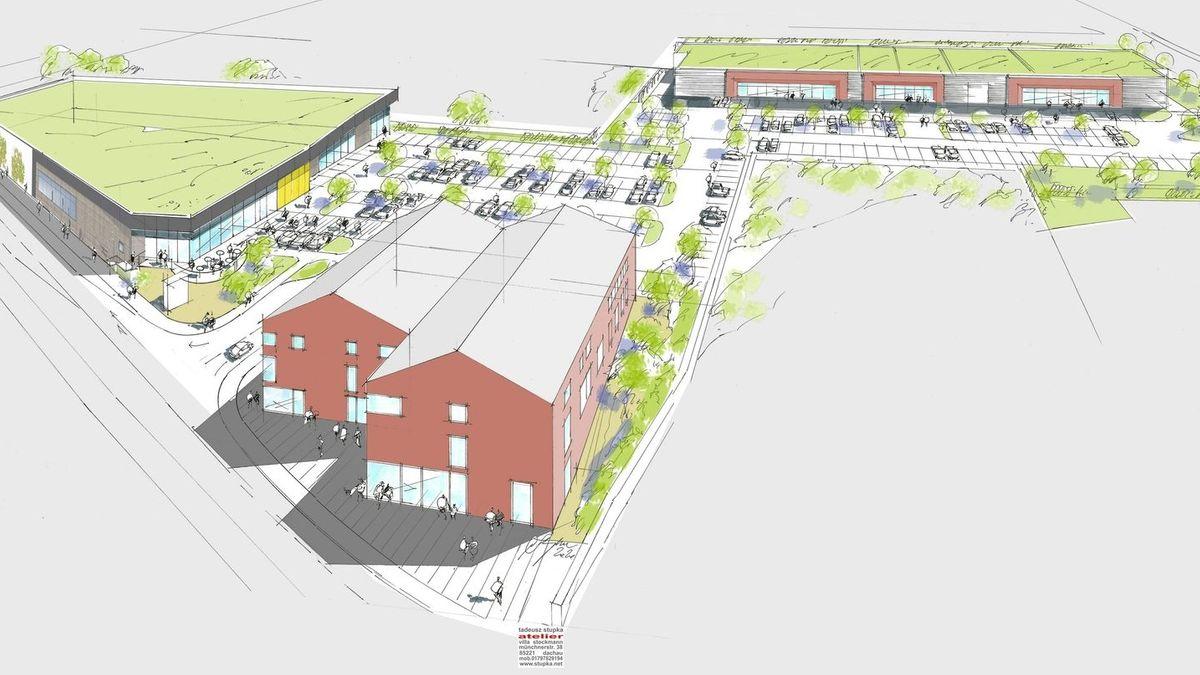 Die Ansicht des geplanten Vorhabens auf dem Rodenstock-Gelände in Regen, wie es der Stadtrat beschlossen hatte