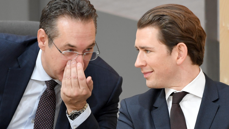 Heinz Christian Strache (l.) und Sebastian Kurz