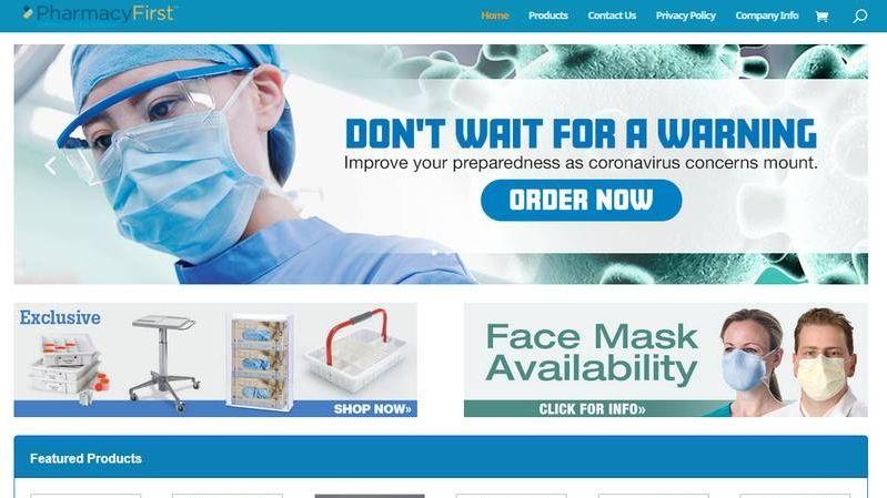 Beispiel für einen professionell aussehenden Fake-Shop der beispielsweise Atemschutzmasken verkauft.