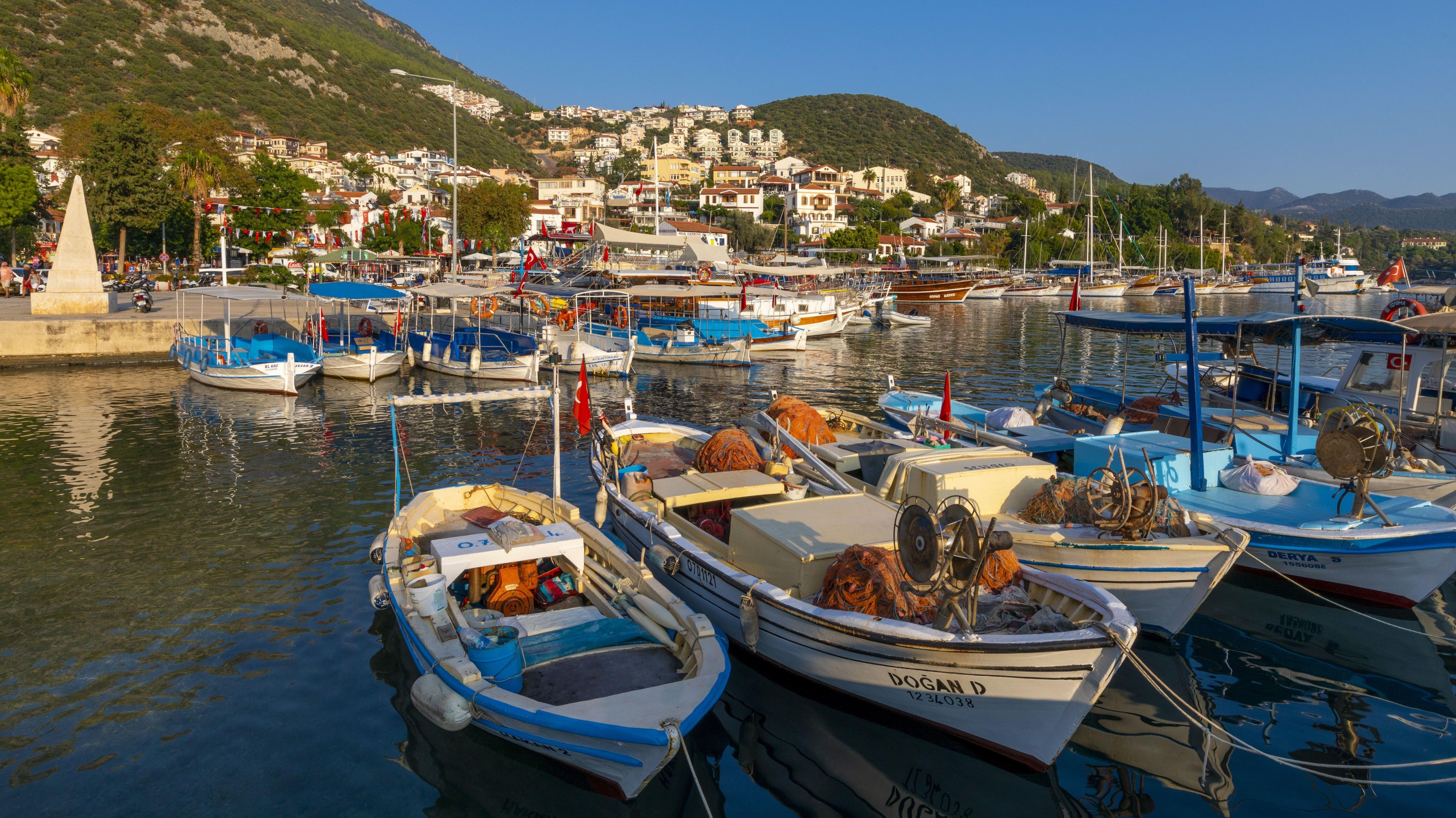 Hafen von Kas an der türkischen Mittelmeerküste