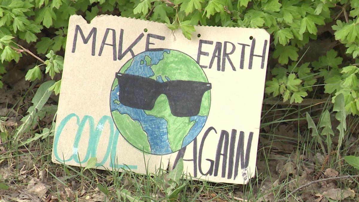 Klimaprotest-Plakat