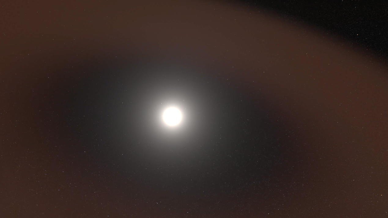 Staubscheibe um die Sonne: Die unmittelbare Umgebung der Sonne ist vermutlich staubfrei, vermuten NASA-Forscher