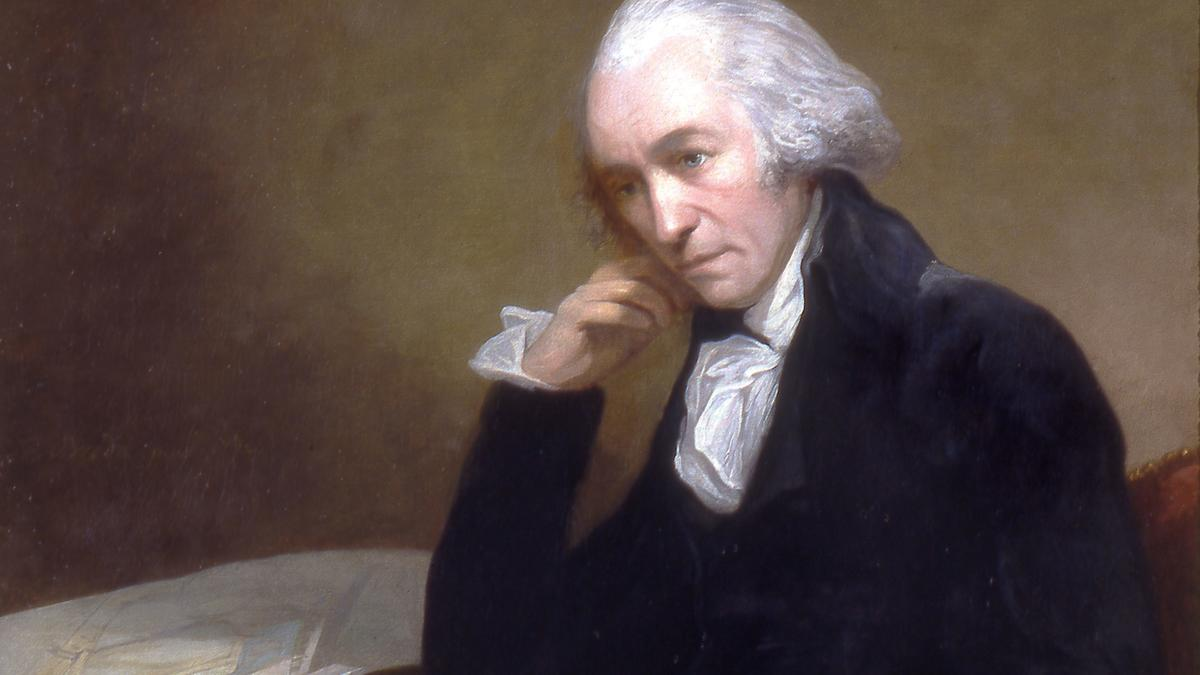 James Watt, schottischer Erfinder, verbessert die Dampfmaschine und bekommt 1769 das Patent für den separaten Kondensator.