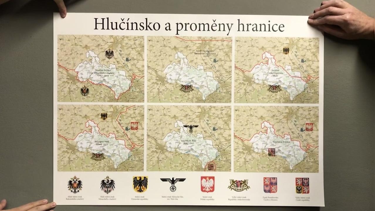 Historische Karte des Hultschiner Ländchens.