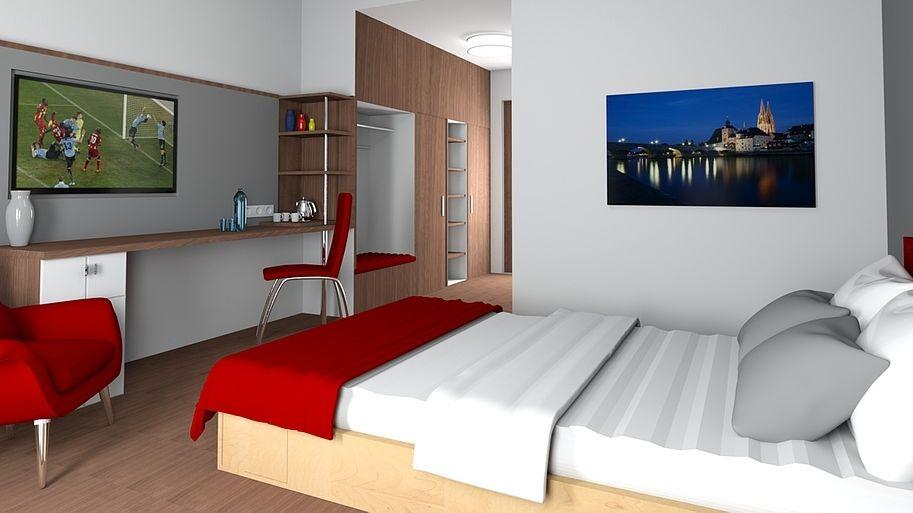 """So sollen die Hotelzimmer im """"Includio"""" aussehen."""