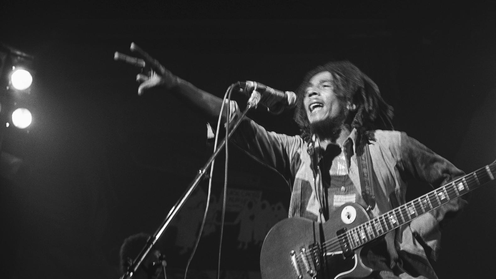 Bob Marley auf einem Konzert
