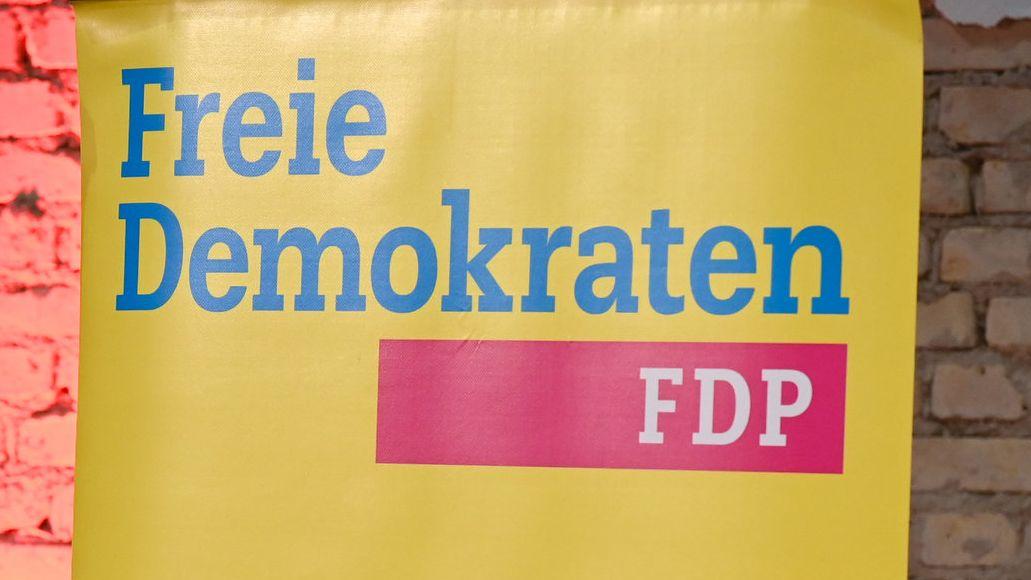 Ein Plakat der FDP.