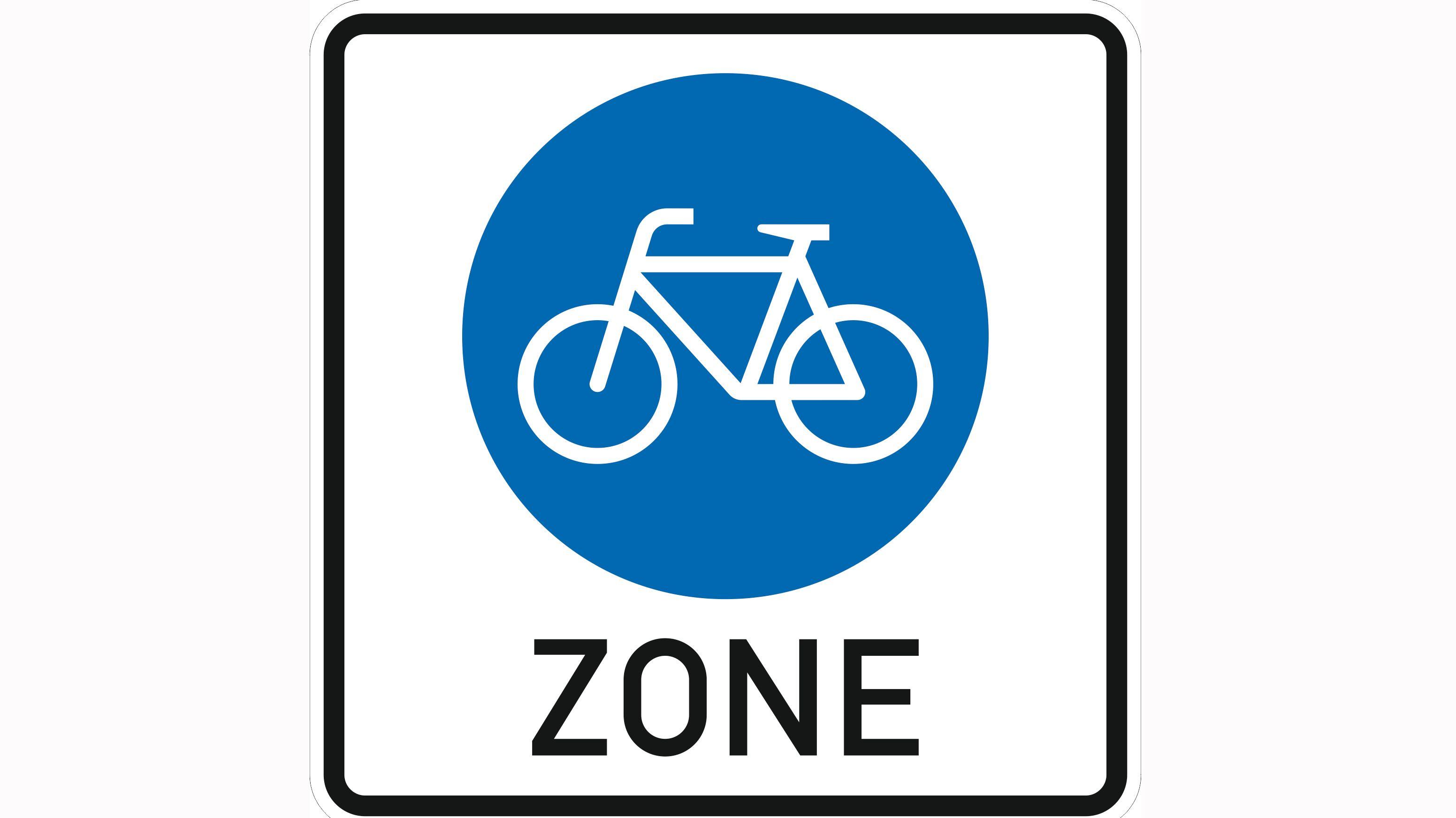 Verkehrszeichen Beginn einer Fahrradzone