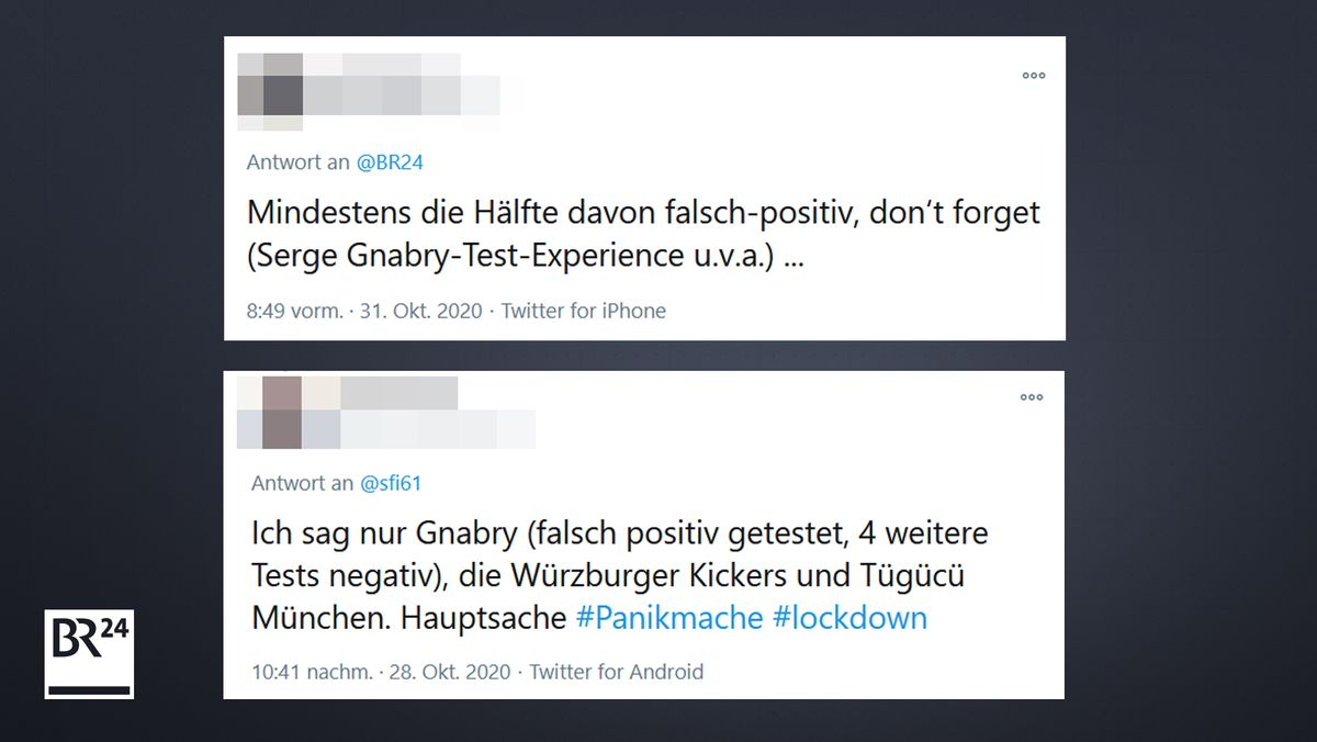 Tweets zu PCR-Tests