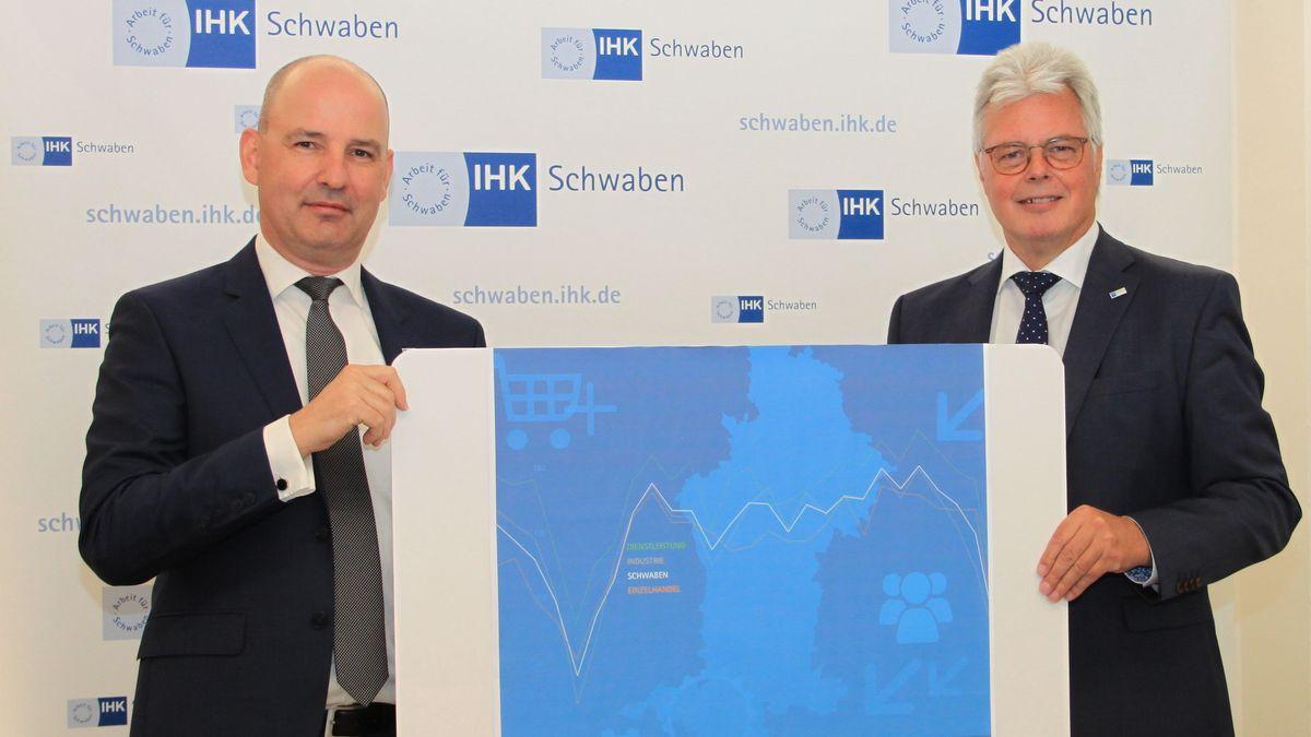 Marc Lucassen und Andreas Kopton von der IHK Schwaben