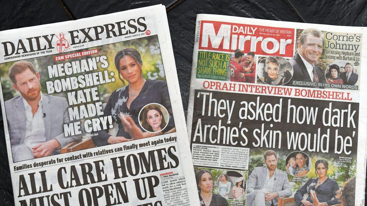 Titelblätter von Daily Express und Daily Mirror